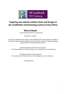 Targeting new climate-resilient feeds and forages in the
