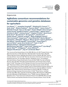 AgBioData consortium recommendations for sustainable