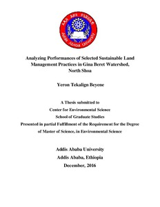 Analyzing performances of selected sustainable land