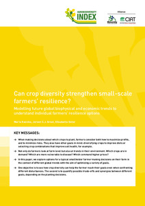 Can crop diversity strengthen small-scale farmers' resilience?