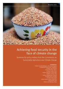 Achieving food security in the face of climate change