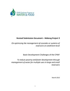 Revised Submission Document – Mekong Project 3 On optimizing the