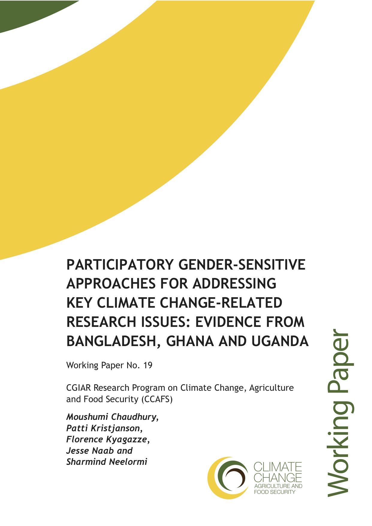 Participatory gender-sensitive approaches for addressing key