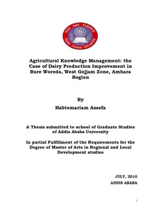 Agricultural knowledge management: Case of dairy production