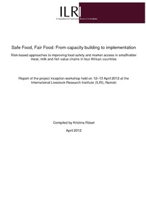 Safe Food, Fair Food: From capacity building to