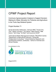 Commune agroecosystem analysis to support decision making for water