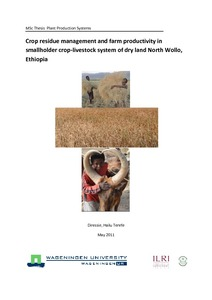 Crop residue and manure management practices, and farm