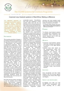 Improved crop–livestock systems in West Africa: Making a