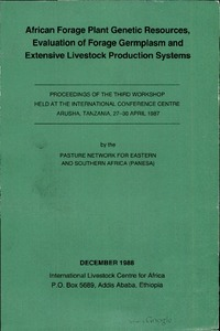 African Forage Plant Genetic Resources, Evalulation of