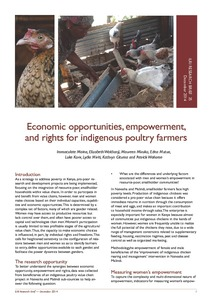 Economic opportunities, empowerment, and rights for
