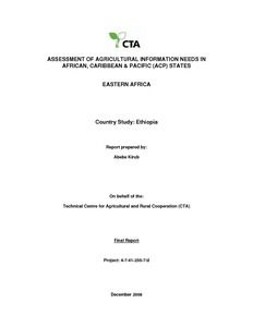 ASSESSMENT OF AGRICULTURAL INFORMATION NEEDS IN AFRICAN