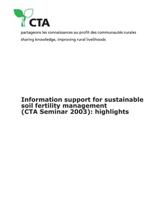 Information support for sustainable soil fertility