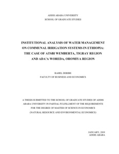 Thesis in water analysis