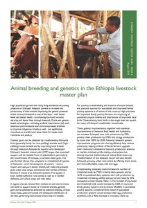 Animal breeding and genetics in the Ethiopia livestock master