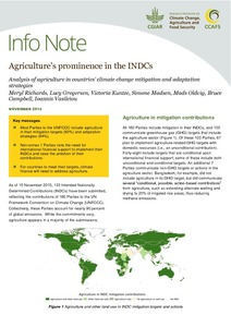 Agriculture's prominence in the INDCs