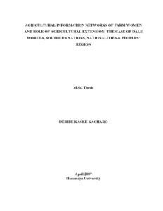 thesis on agricultural extension