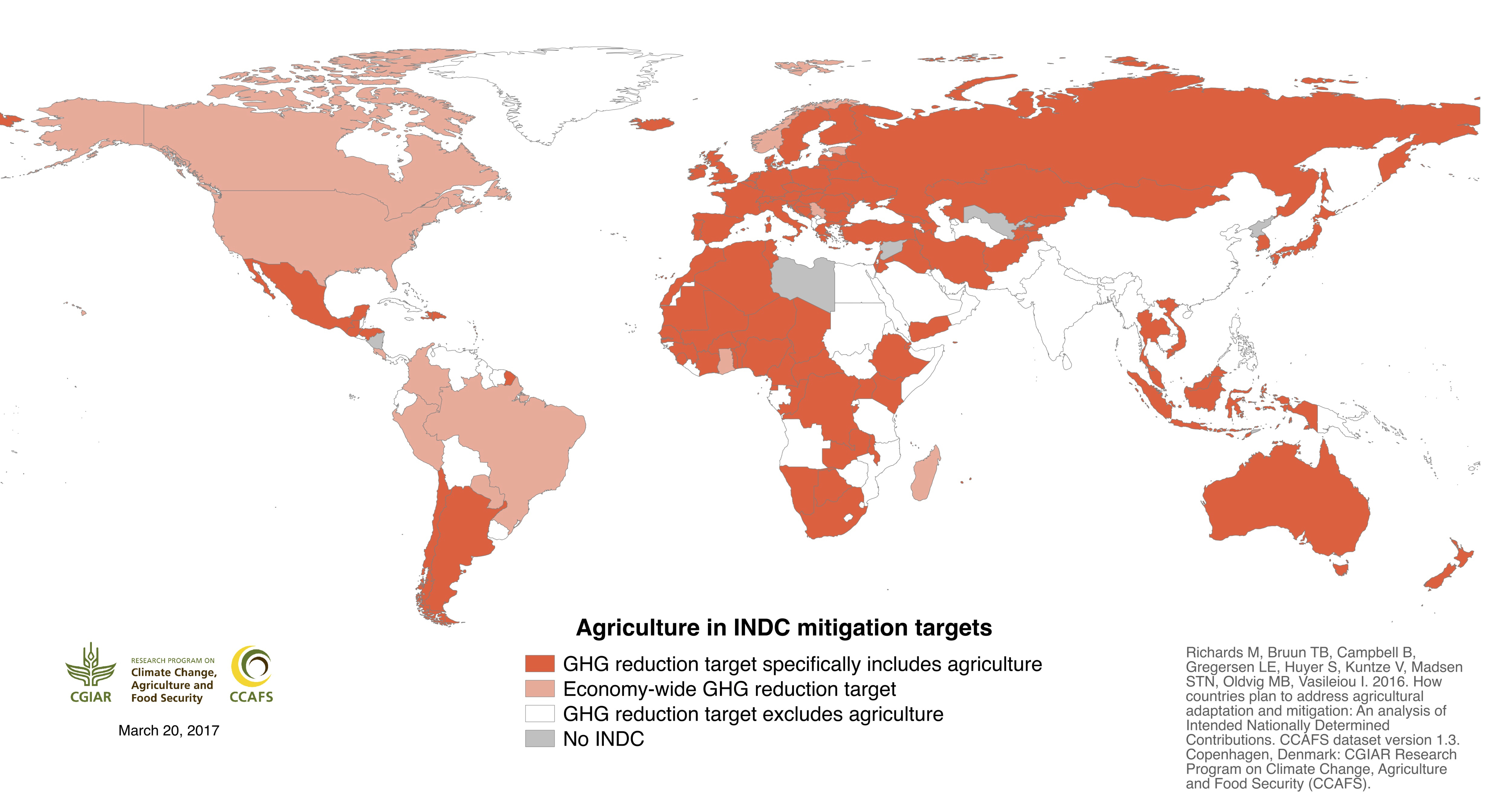 Agriculture World Map.Agriculture S Prominence In The Indcs Data And Maps Ccafs Cgiar