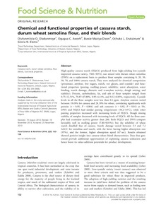 Chemical and functional properties of cassava starch, durum