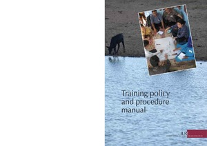 Training policy and procedure manual