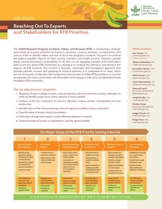 Six steps: Reaching out to experts and stakeholders for RTB priorities.