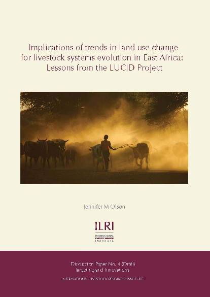 Implications of trends in land use change for livestock