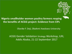 Nigeria smallholder women poultry farmers reaping the benefits of