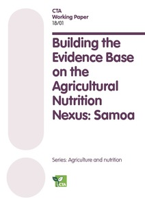 Building the Evidence Base on the Agricultural Nutrition