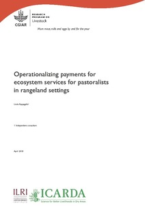 Operationalizing payments for ecosystem services for