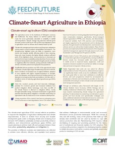 Climate-Smart Agriculture in Ethiopia