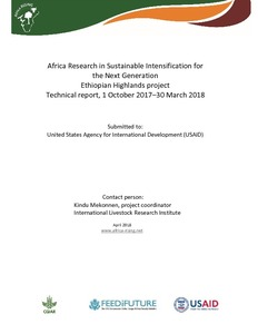 Africa Research in Sustainable Intensification for the Next