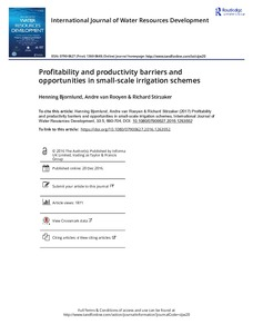 Profitability and productivity barriers and opportunities in