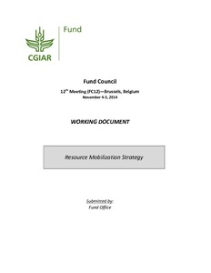 Fund Council Working Document Resource Mobilization Strategy