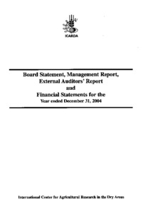 International center for agricultural research in the dry areas name icardaaudit2004pdf size 1681mb format pdf altavistaventures Image collections