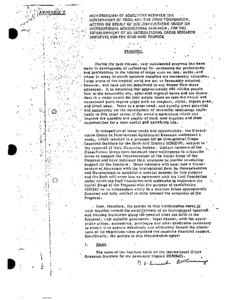 Memorandum of Agreement between the Government of India and the Ford
